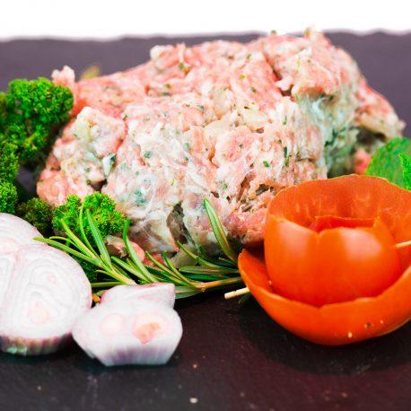 hache de porc et boeuf campagne ail oignon persil