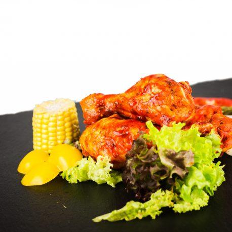 pilon de poulet marinée precuit