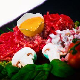 Steak tartare pur Boeuf